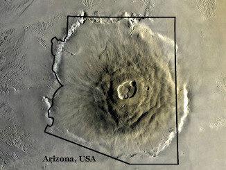Olympus Mons and Arizona